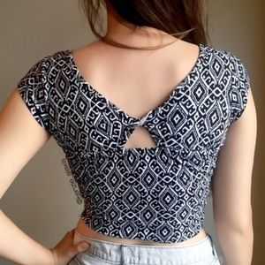 L.A. Hearts black and white crop top from PacSun
